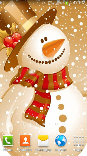 Snowman by Dream World HD Live Wallpapers