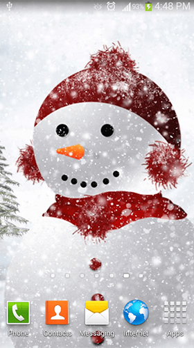 Téléchargement gratuit de Snowman by Dream World HD Live Wallpapers pour Android.