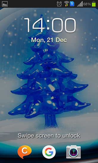 Screenshots of the Snowy Christmas tree HD for Android tablet, phone.