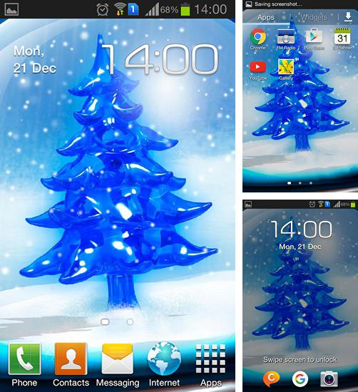 In addition to live wallpaper Pink roses for Android phones and tablets, you can also download Snowy Christmas tree HD for free.