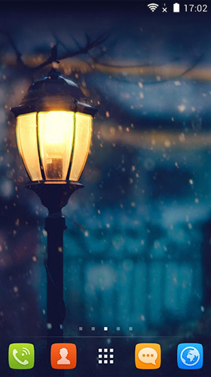 Screenshots of the Snowy night for Android tablet, phone.