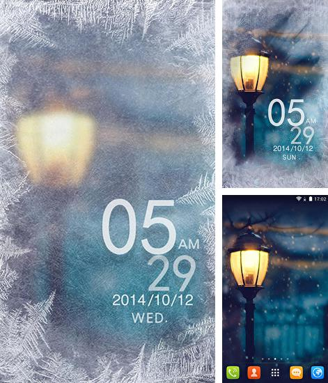 In addition to live wallpaper Raindrops for Android phones and tablets, you can also download Snowy night for free.
