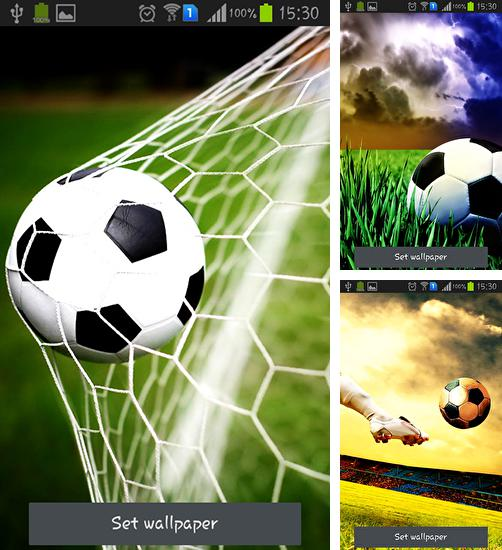 In addition to live wallpaper Golden apple clock for Android phones and tablets, you can also download Soccer for free.