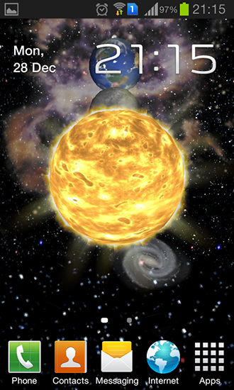 Screenshots of the Solar system 3D for Android tablet, phone.