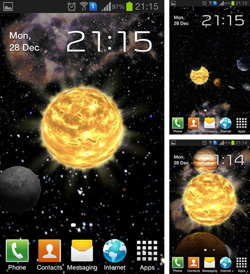 In addition to live wallpaper Circuitry for Android phones and tablets, you can also download Solar system 3D for free.