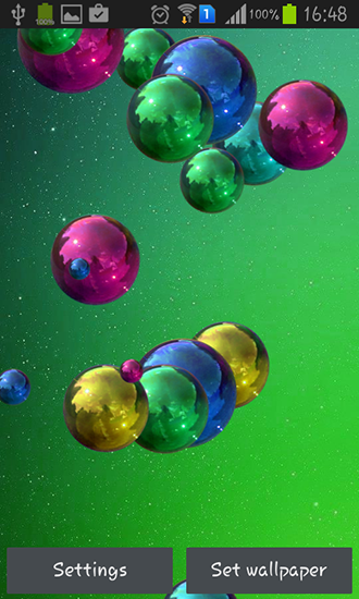 Download Space bubbles - livewallpaper for Android. Space bubbles apk - free download.