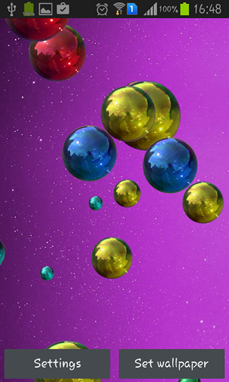 Screenshots von Space bubbles für Android-Tablet, Smartphone.