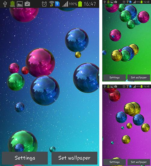 In addition to live wallpaper Winter Cities for Android phones and tablets, you can also download Space bubbles for free.