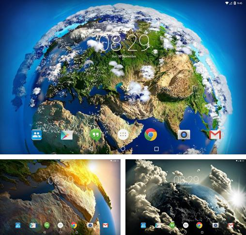 In addition to live wallpaper Puppy for Android phones and tablets, you can also download Space clouds 3D for free.