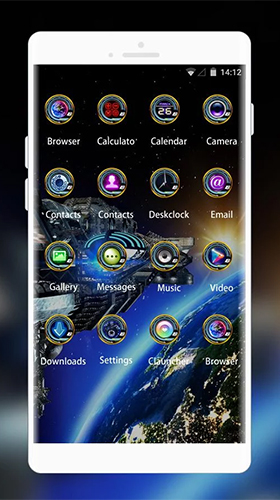 Screenshots of the Space galaxy 3D by Mobo Theme Apps Team for Android tablet, phone.