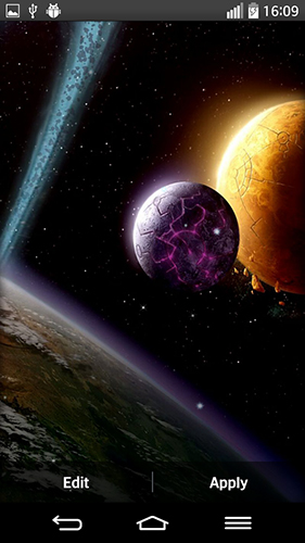 Download livewallpaper Space planets for Android. Get full version of Android apk livewallpaper Space planets for tablet and phone.