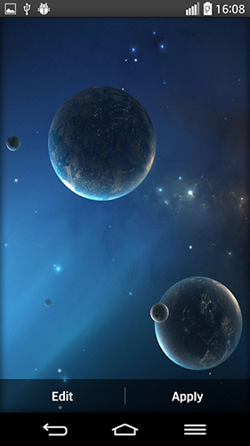 Screenshots of the Space planets for Android tablet, phone.