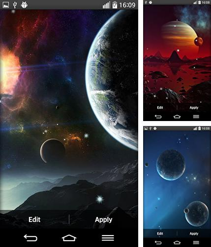 In addition to live wallpaper Windmill by FlipToDigital for Android phones and tablets, you can also download Space planets for free.
