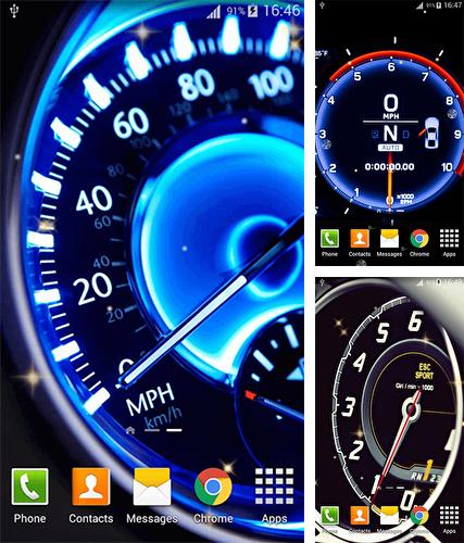 Kostenloses Android-Live Wallpaper Speedometer. Vollversion der Android-apk-App Speedometer für Tablets und Telefone.