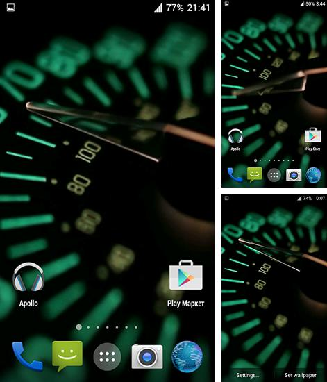 In addition to live wallpaper Bubbles for Android phones and tablets, you can also download Speedometer 3D for free.