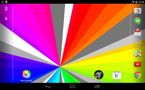 Screenshots of the SpinIt for Android tablet, phone.