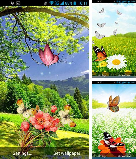 In addition to live wallpaper Feather: Bubble for Android phones and tablets, you can also download Spring butterflies for free.