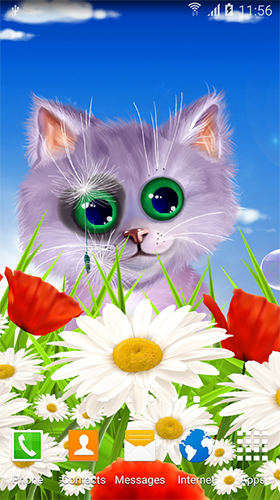 Download livewallpaper Spring cat for Android. Get full version of Android apk livewallpaper Spring cat for tablet and phone.