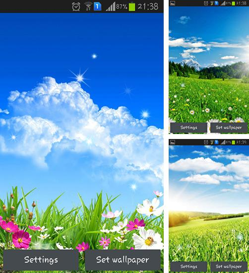 In addition to live wallpaper Chrooma Float for Android phones and tablets, you can also download Spring flower for free.