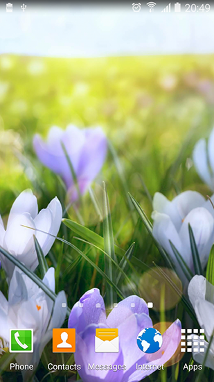 Screenshots of the Spring landscapes for Android tablet, phone.