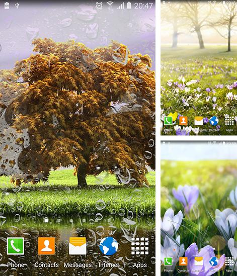 In addition to live wallpaper Colibri for Android phones and tablets, you can also download Spring landscapes for free.