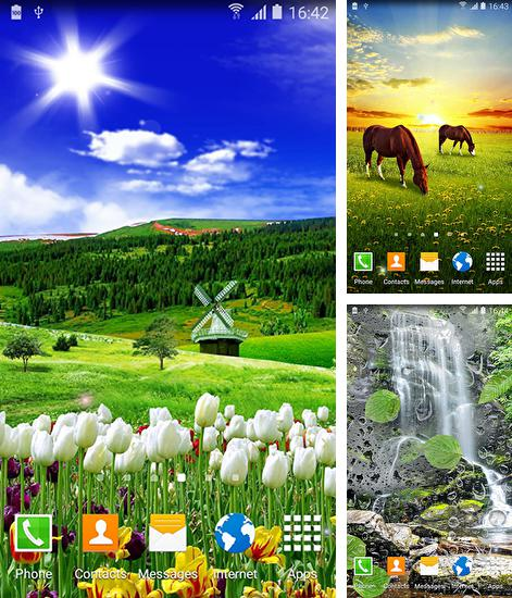 In addition to live wallpaper Christmas snow by live wallpaper HongKong for Android phones and tablets, you can also download Spring nature for free.