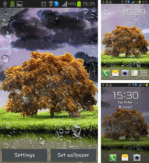 In addition to live wallpaper Fireworks deluxe for Android phones and tablets, you can also download Spring storm for free.