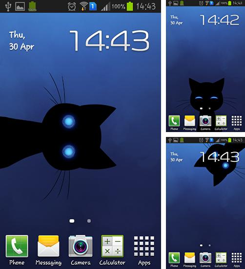 In addition to live wallpaper Shark aquarium for Android phones and tablets, you can also download Stalker cat for free.