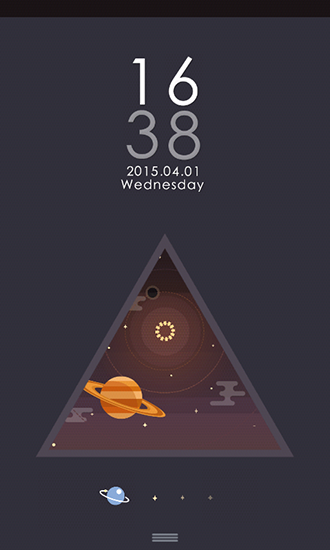 Screenshots of the Star and universe for Android tablet, phone.