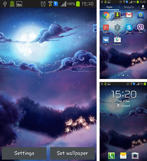 In addition to live wallpaper Winter snow for Android phones and tablets, you can also download Star light for free.
