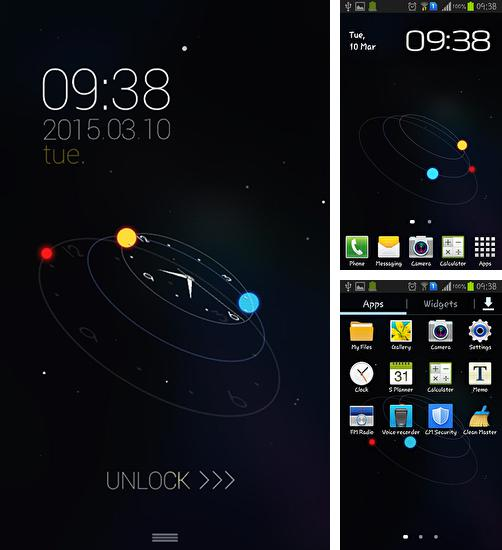 In addition to live wallpaper Thunder for Android phones and tablets, you can also download Star orbit for free.