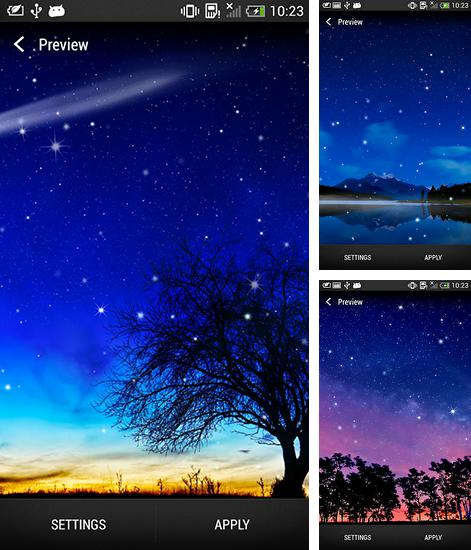In addition to live wallpaper Love by Pro Live Wallpapers for Android phones and tablets, you can also download Starry night for free.