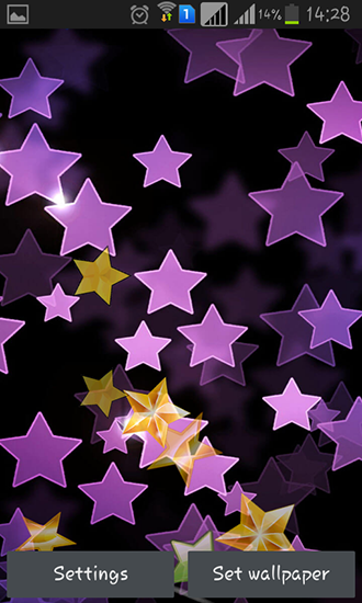 Screenshots von Stars by Happy live wallpapers für Android-Tablet, Smartphone.