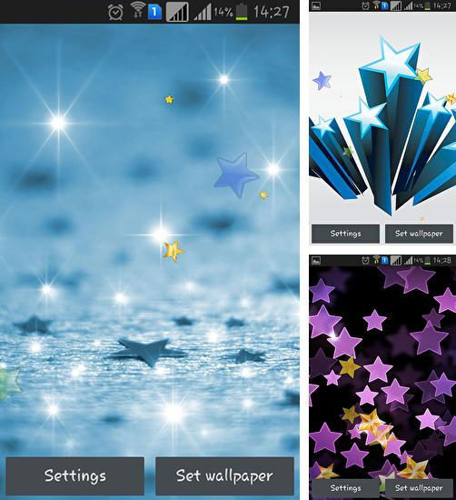 In addition to live wallpaper Moon clock for Android phones and tablets, you can also download Stars by Happy live wallpapers for free.