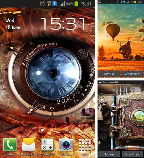 In addition to live wallpaper Space clouds 3D for Android phones and tablets, you can also download Steampunk for free.