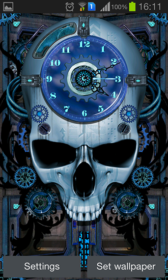 Download livewallpaper Steampunk clock for Android. Get full version of Android apk livewallpaper Steampunk clock for tablet and phone.