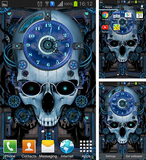 In addition to live wallpaper Beautiful night for Android phones and tablets, you can also download Steampunk clock for free.