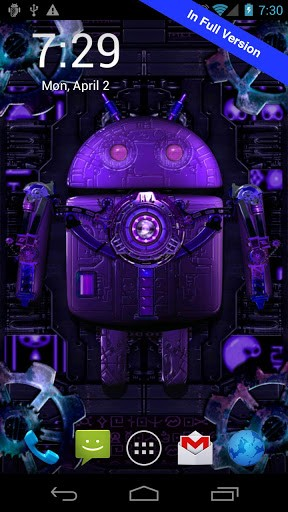 Screenshots of the Steampunk droid for Android tablet, phone.