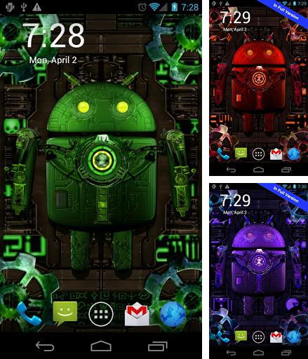 Download live wallpaper Steampunk droid for Android. Get full version of Android apk livewallpaper Steampunk droid for tablet and phone.