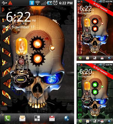 Download live wallpaper Steampunk skull for Android. Get full version of Android apk livewallpaper Steampunk skull for tablet and phone.
