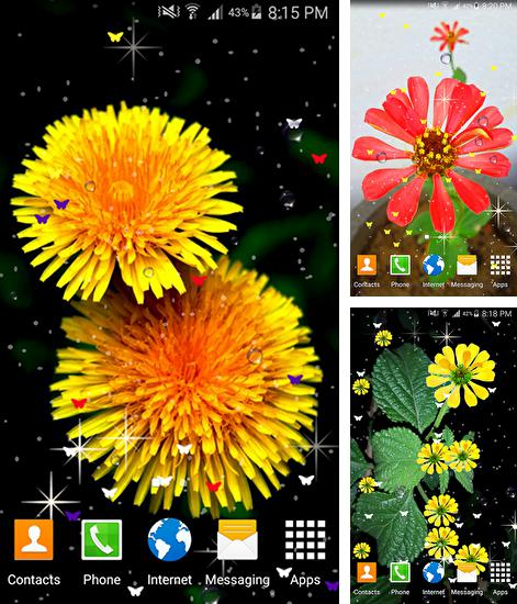 In addition to live wallpaper Flowers 3D by SkyDivers for Android phones and tablets, you can also download Summer flowers by Stechsolutions for free.