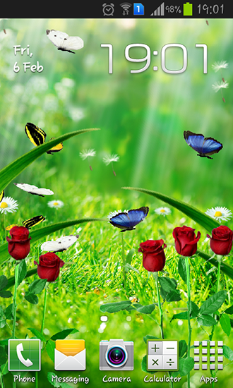 Summer garden live wallpaper for Android. Summer garden free