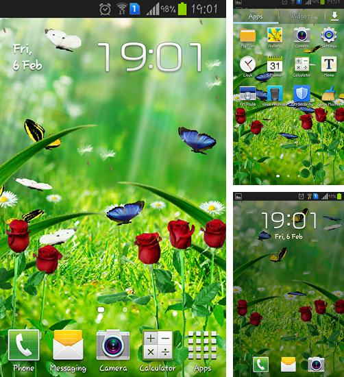 Download live wallpaper Summer garden for Android. Get full version of Android apk livewallpaper Summer garden for tablet and phone.