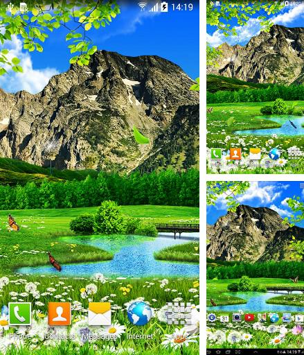 Download live wallpaper Summer landscape for Android. Get full version of Android apk livewallpaper Summer landscape for tablet and phone.