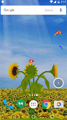 Screenshots of the Sunflower 3D for Android tablet, phone.