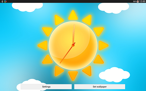 Download Sunny weather clock - livewallpaper for Android. Sunny weather clock apk - free download.
