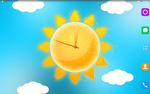 Screenshots of the Sunny weather clock for Android tablet, phone.