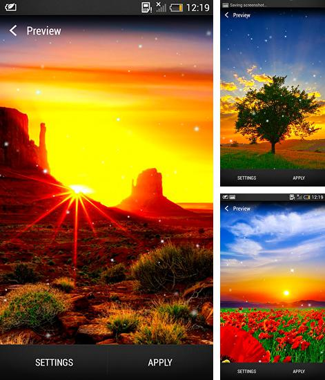 In addition to live wallpaper Sport for Android phones and tablets, you can also download Sunrise for free.