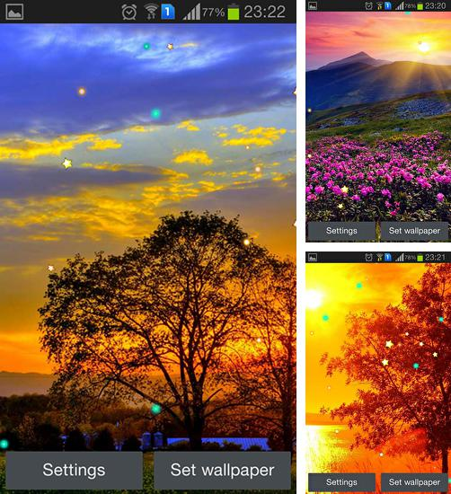 In addition to live wallpaper Balloons for Android phones and tablets, you can also download Sunset spring for free.