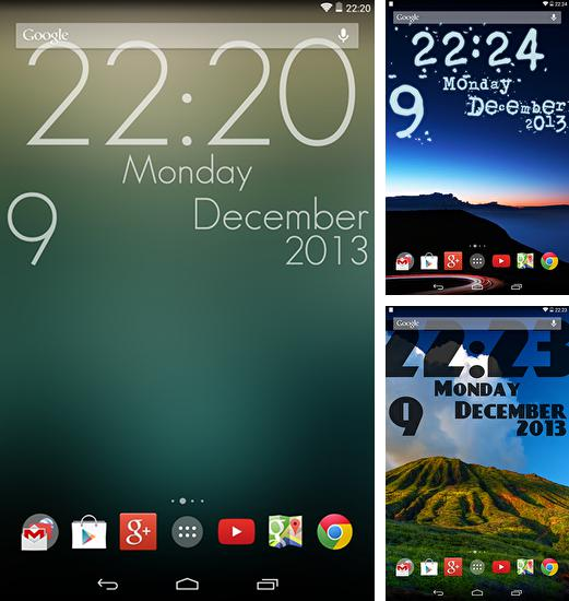 In addition to live wallpaper Photo cube 3D for Android phones and tablets, you can also download Super clock for free.